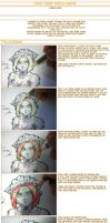 How I layer colour pencil by funkyalien