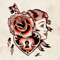 tattoo flash_red by Bern-Z