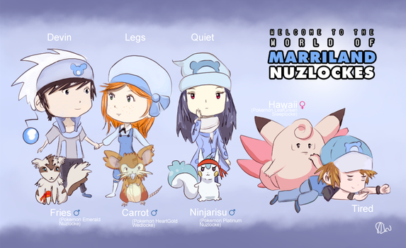 ALL-LOCKES: World of Marriland Nuzlocke Chibis by Sophie-Lou