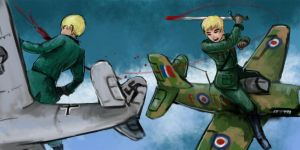 England X Germany 1940 by hetaliasse