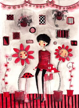 The Botanist Who Loves Red by morbid-morsel