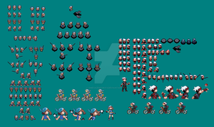 Ruby And Sapphire Sprites by omegazeke08013