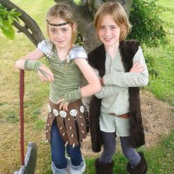 Astrid and Hiccup Finished Cosplay by BigMamaBear