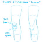Ambi's Simple Knee Tutorial by AmbiguityArt