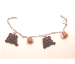 harry potter bracelet chocolate frogs and snitch by MiniSweetx