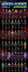 Heroes of Science Volumes I and II by datazoid
