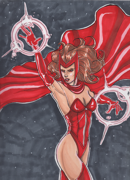 Scarlet Witch in Prismas by Bananalog-Clock