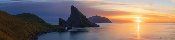 Sunset at the Fjord by LinsenSchuss