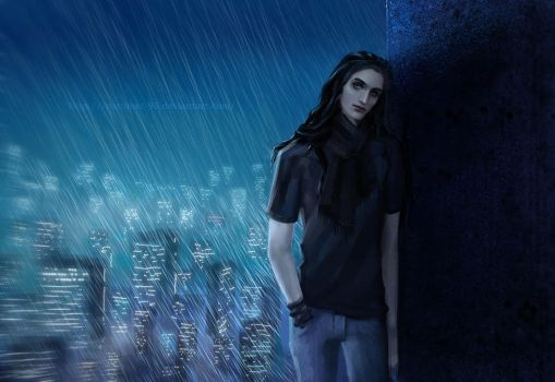 City in the rain by costumer-95