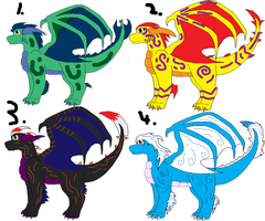 Dragon 10 Point Adoptables -OPEN- by SuperSonicFireDragon