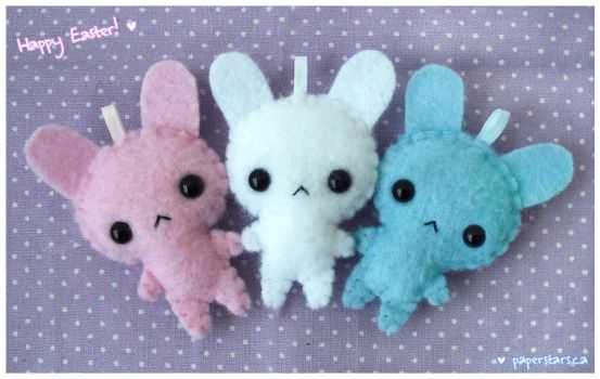 Pastel Bunnies by littlepaperforest