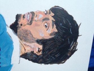 David Silva Acrylic Painting by charliedorsey