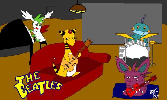 The Beatles as Pokemon by BlackRayquaza1