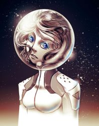 Space Girl 01 - Ice Blue Eyes by RahByte