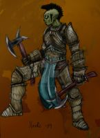 barbarian Half orc Fem color by Nordic-Dragon