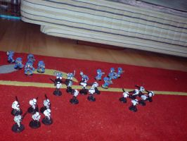 space marines vs tau by x9000