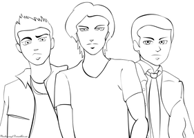 Supernatural Lineart by MindlessAngel
