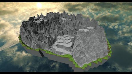 Mt. Ordeals (FFIV) in Minecraft by Sir-Beret