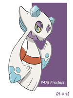 Froslass- The Ice Maiden Pokemon by LuisMGalindo