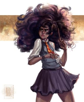 Harry Potter - Black Hermione by ArainMorn