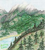 Mountains and forests by Shyna2