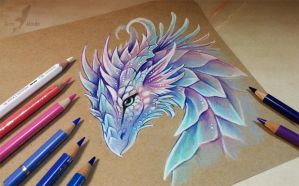 Dragon from fairy tale by AlviaAlcedo
