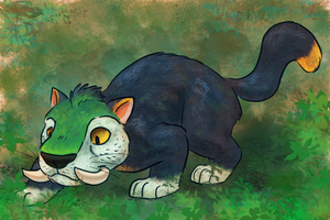 Chunky ParrotCat by comixqueen