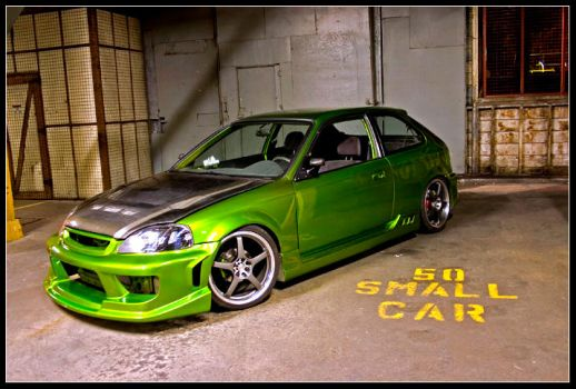 Green Civic by Civictron