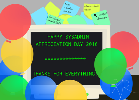 SysAdmin Day 2016 by krourke