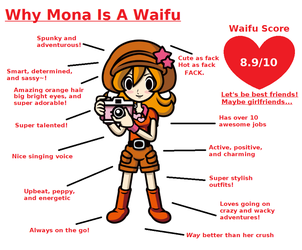 Why Mona is a Waifu by ClaireAimee