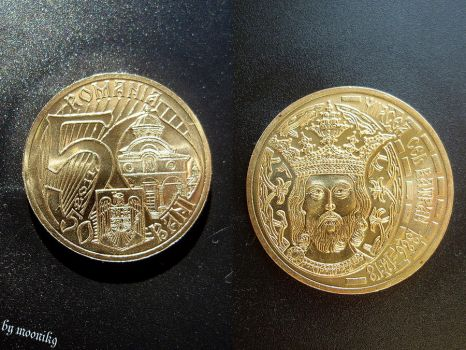 Romanian coin 2011 by moonik9