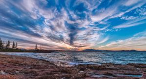 South West Rocks Sunset by TarJakArt