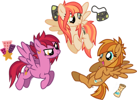 OC Overhaul: High Rise, Belle Rose, Techthus by equinepalette
