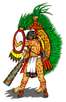 Tlatoani Axayacatl who dresses as Xipe Totec by nosuku-k