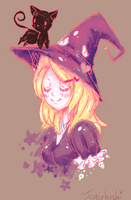 Whiskers and witches by Jesterhoshi