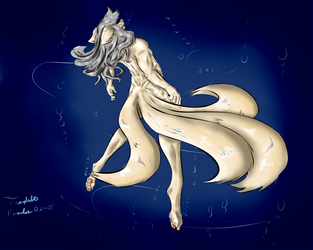 In  between the oceans of mind and spirit original by Kitsune-Frostail