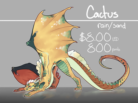 [CLOSED] Cactus | rain/sand adopt by Crionym