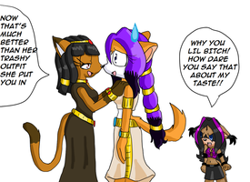 .:GA:. Fight over DM's outfit2 by Maddysu86