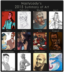 2015 Summary of Art by NastyLady
