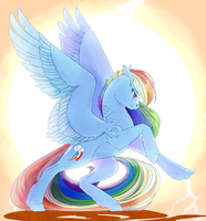 Rainbow Dash by GLaSTALINKA