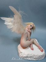Heather Shimmer Angel #92 OOAK Sculpture by bornbrightdolls
