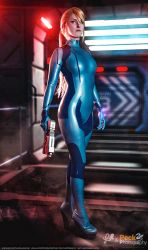 Zero Suit Samus Aran - Metroid Cosplay by LiKovacs