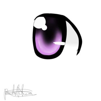 First Eye I draw by popcorn-baka