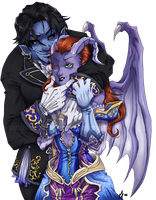 Hailfall Couple Commission by m-t-copyright