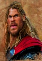 Chris Hemsworth as Thor by wooden-horse