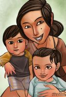 Ellen and the kids by anthonymata415
