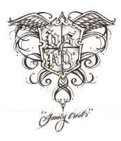 My Family Crest Tattoo design by SincereEyez