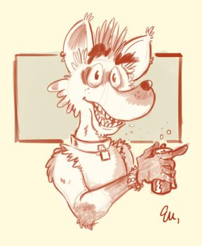Punk Hyena by TheInsaneDingo
