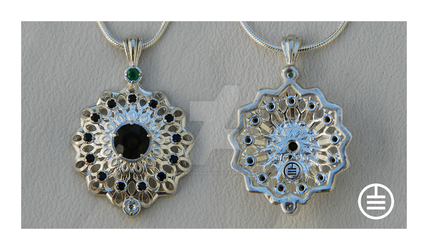 Solar Expression Pendant by manwithashadow