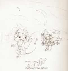 TRF Rocket and Ananca Chase by rapidkirby3k